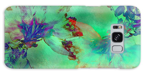 Green Hibiscus Mural Wall Galaxy Case by Claudia Ellis