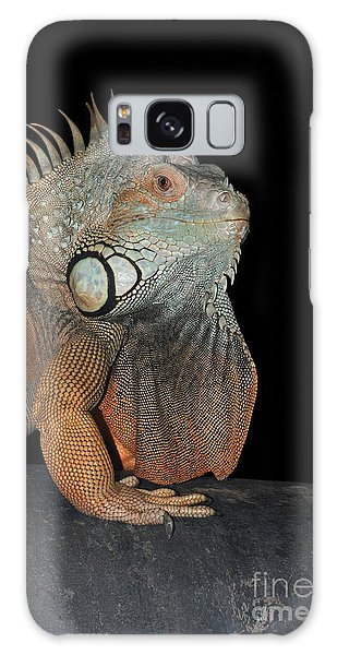 Green Iguana  Galaxy Case by Judy Whitton