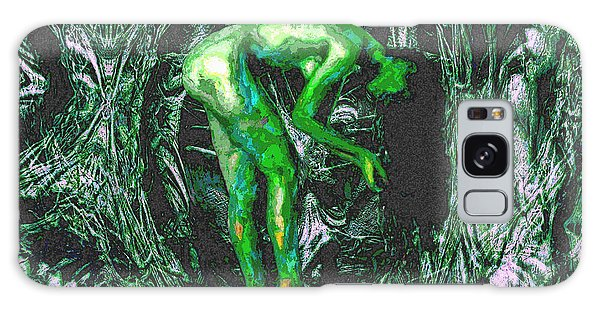 Gaia Earthly Goddess Nymph Farie Mother Earth Fine Art Print Galaxy Case by David Mckinney