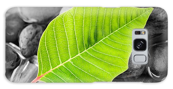 Green Leaf Galaxy Case