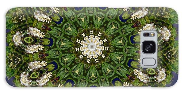 Green Leaf White Flower Mandala Galaxy Case