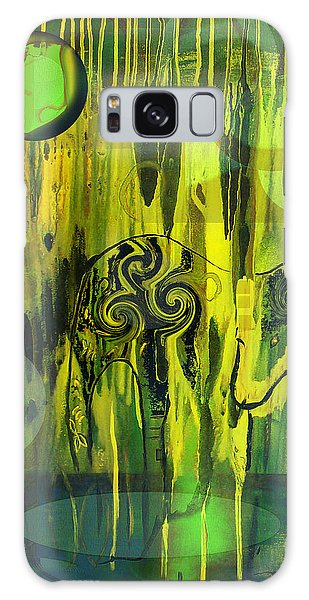 Green Light Galaxy Case by Yul Olaivar