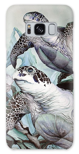 Green Loggerhead Galaxy Case by William Love