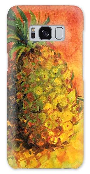 Green Orange Pineapple Galaxy Case