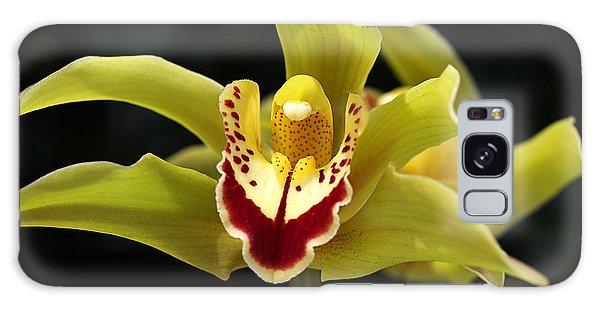 Green Orchid Flower Galaxy Case