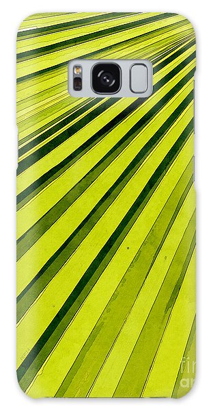 Green Palm Frond Galaxy Case by Phil Perkins