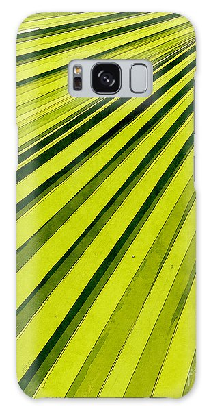 Green Palm Frond Galaxy Case