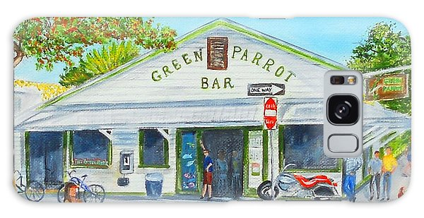 Green Parrot Bar Galaxy Case