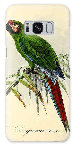 Parakeet Galaxy Case - Green Parrot by Dreyer Wildlife Print Collections