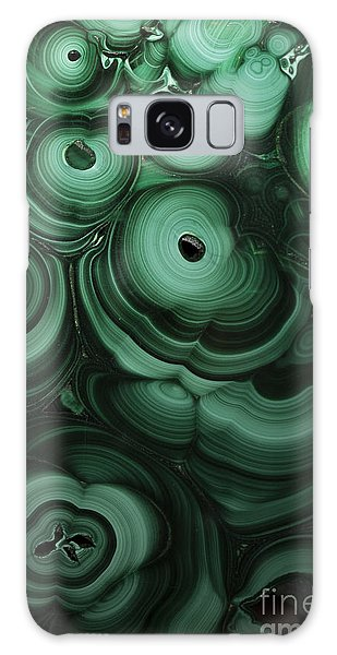 Green Patterns Of Malachite Galaxy Case