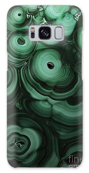 Green Patterns Of Malachite Galaxy Case