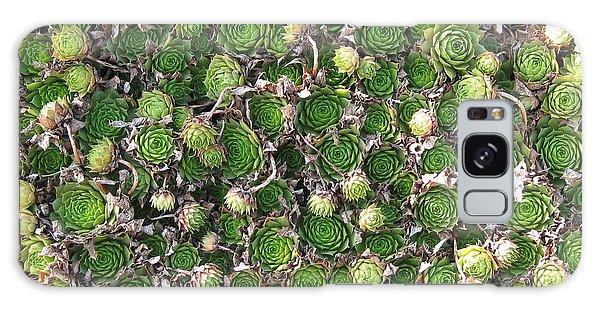 Green Petals Galaxy Case