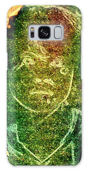 Green Sad Face Galaxy Case by Andrea Barbieri