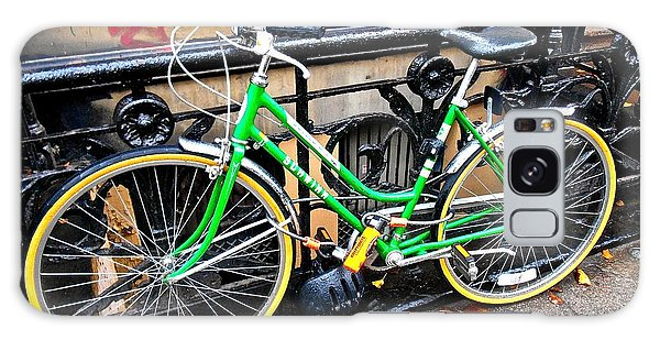 Galaxy Case featuring the photograph Green Schwinn Bike  Nyc by Joan Reese
