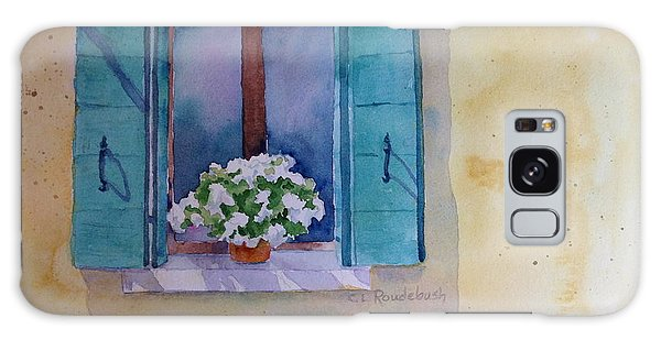 Green Shutters And White Geraniums Galaxy Case