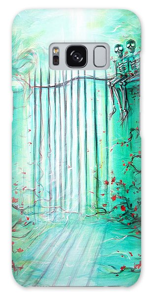 Green Skeleton Gate Galaxy Case by Heather Calderon