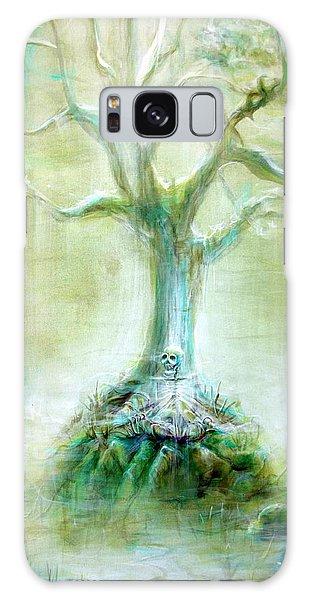 Green Skeleton Meditation Galaxy Case