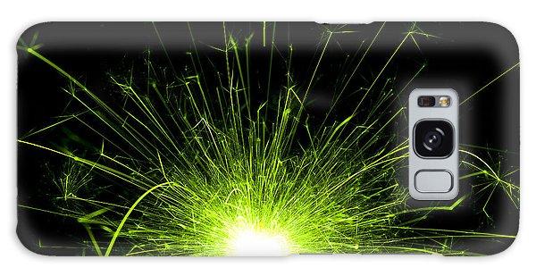 Fireworks Galaxy Case - Green Sparkle by Samuel Whitton