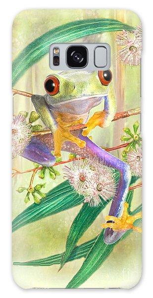 Green Tree Frog Galaxy Case