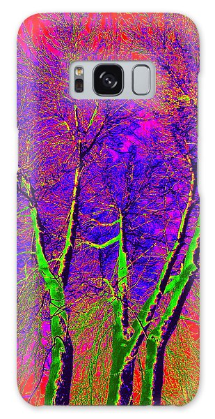 Green Trees Galaxy Case by Jodie Marie Anne Richardson Traugott          aka jm-ART