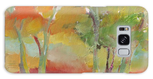 Green Trees Galaxy Case by Michelle Abrams