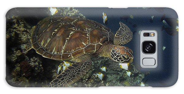 Hawksbill Turtle Galaxy Case by Sergey Lukashin