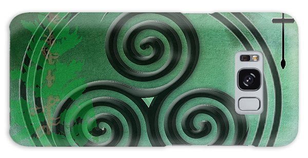 Green Watercolor Ailim Celtic Symbol Galaxy Case by Kandy Hurley
