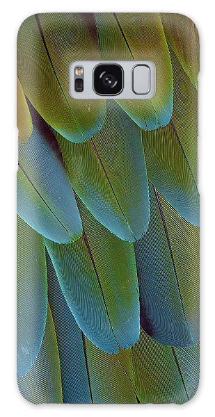 Green-winged Macaw Wing Feathers Galaxy Case