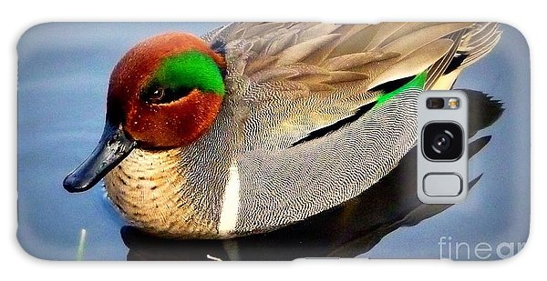 Green Winged Teal  Duck  Galaxy Case
