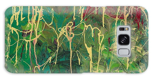 Green Yellow Abstract Galaxy Case