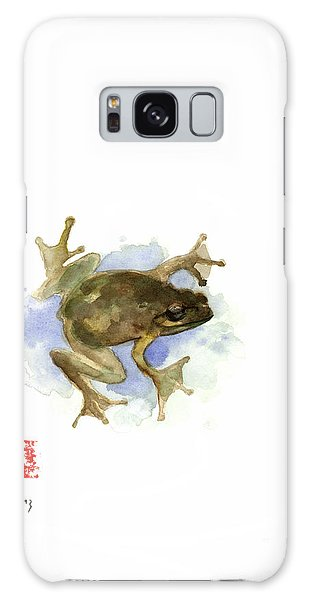 Green Yellow Blue Frog Lake River Animal World Water Colors Jewel Collection Galaxy S8 Case