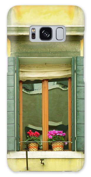 Green Yellow Venice Series Shutters Galaxy Case