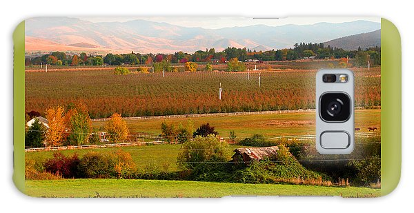 Pastel Skies And Green Pastures - Scenic Southern Oregon Galaxy Case