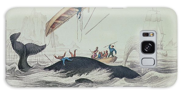 Sea Galaxy Case - Greenland Whale Book Illustration Engraved By William Home Lizars  by James Stewart