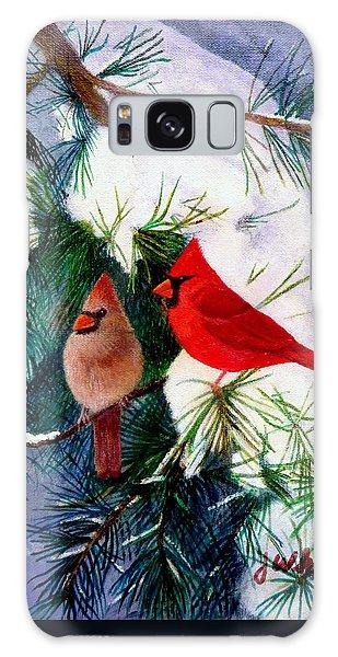 Greeting Cardinals Galaxy Case