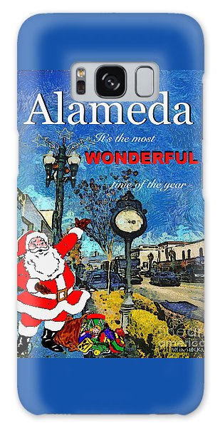 Alameda Christmas Greeting Galaxy Case by Linda Weinstock