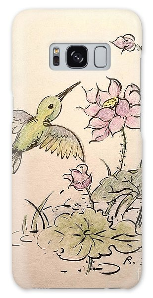 Greeting Hummingbird Galaxy Case by Rose Wang