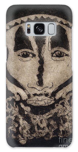 Greetings From New Guinea - Mask - Tribesmen - Tribesman - Tribal - Jefe - Chef De Tribu Galaxy Case