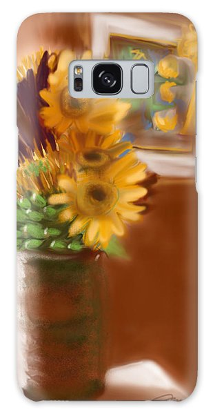 Gretchens Flowers Galaxy Case