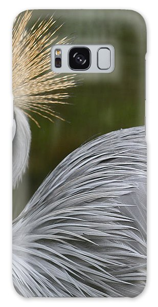 Grey Crowned Crane Galaxy Case by Venetia Featherstone-Witty