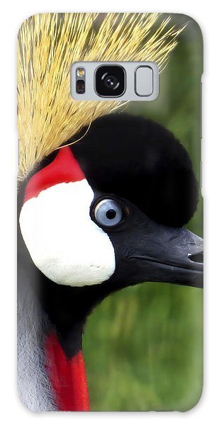 Grey Crowned Crane Galaxy Case by Ron Grafe