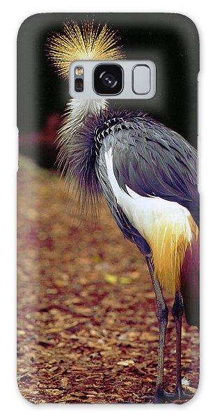 Grey Crowned Crane Galaxy Case
