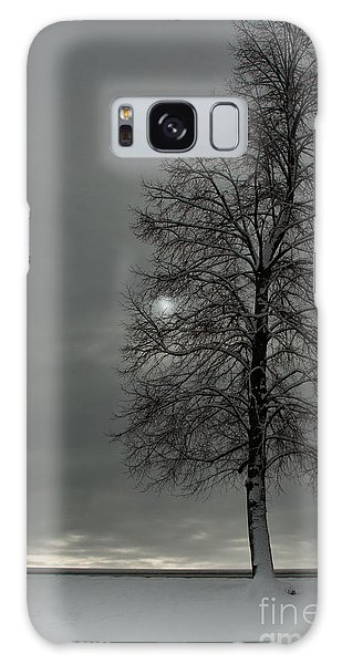 Grey Morning Galaxy Case by Steven Reed