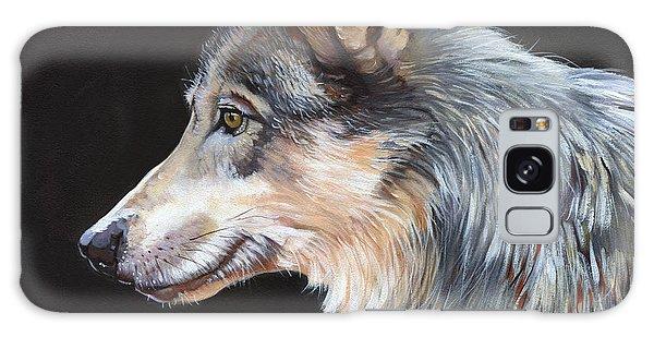 Grey Wolf Galaxy Case by J W Baker