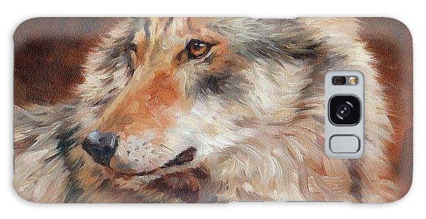 Grey Wolf Portrait Galaxy Case