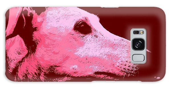 Greyhound Profile Galaxy Case by Clare Bevan