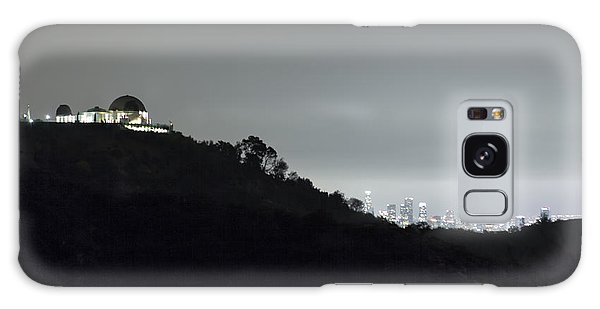 Griffith Park Observatory And Los Angeles Skyline At Night Galaxy Case