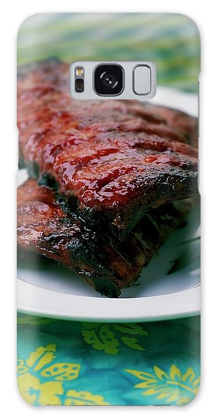 Grilled Ribs On A White Plate Galaxy Case