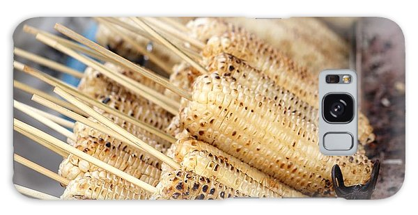 Grilled White Corn Cobs Galaxy Case by Yali Shi