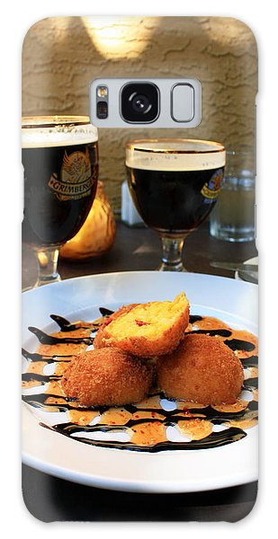 Grimbergen And Arancini Galaxy Case by Gerry Bates